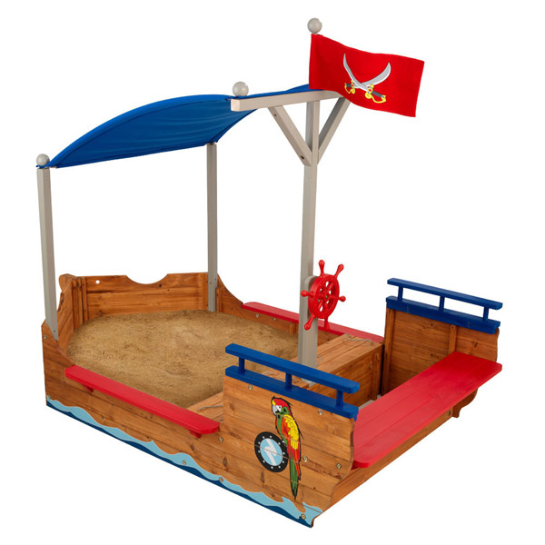 bac sable bateau pirates kidkraft king jouet bacs. Black Bedroom Furniture Sets. Home Design Ideas
