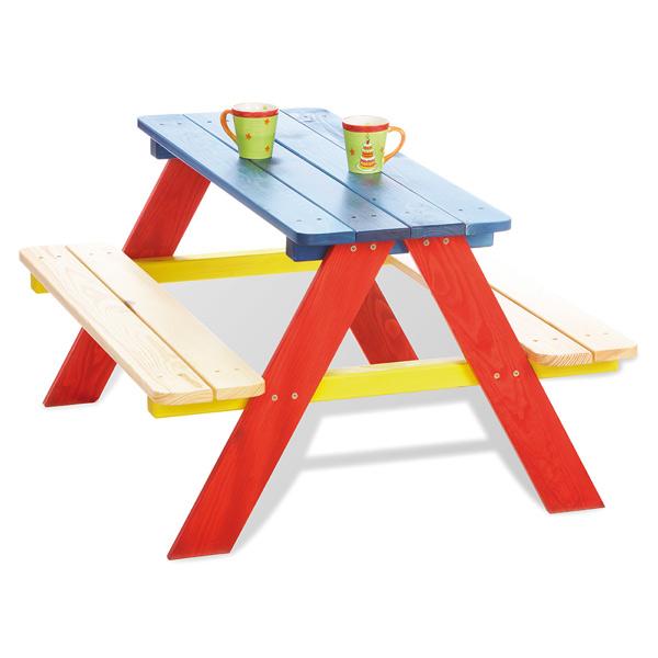 Table pique nique bois 4 places