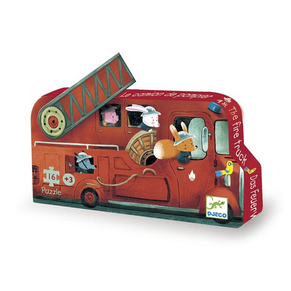 Puzzle camion de pompier 16 pièces