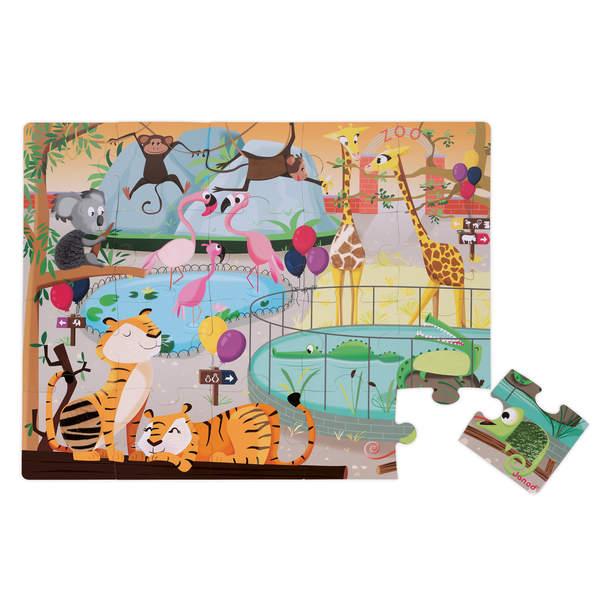 Puzzle tactile zoo 20 pièces