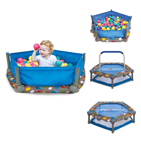 Trampoline et piscine à balles 3 en 1
