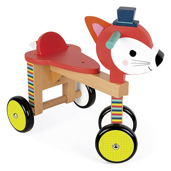 porteur renard janod king jouet porteurs jouets. Black Bedroom Furniture Sets. Home Design Ideas
