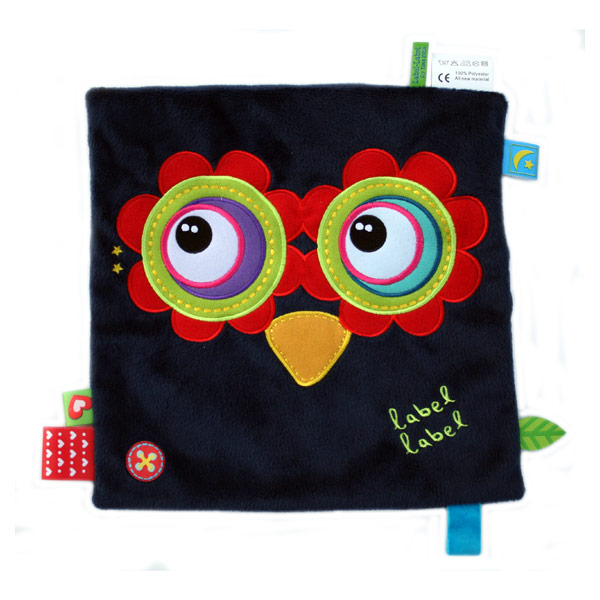 Doudou friends carré hibou