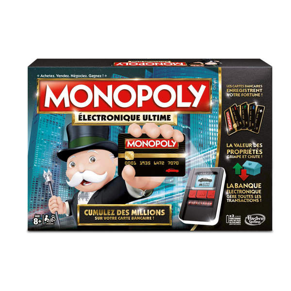monopoly ultimate banking hasbro gaming king jouet jeux de strat gie hasbro gaming jeux de. Black Bedroom Furniture Sets. Home Design Ideas