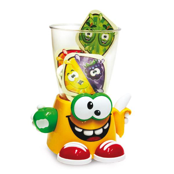 Frutti Frutti est un jeu d´adresse amusant. Lancez les bons fruits dans le blender Frutti Frutti qui narrête pas de bouger. Mais attention, visez bien et faites vite car sil recrache des cartes quand cest votre tour, vous les ramassez. Le premier qui na p