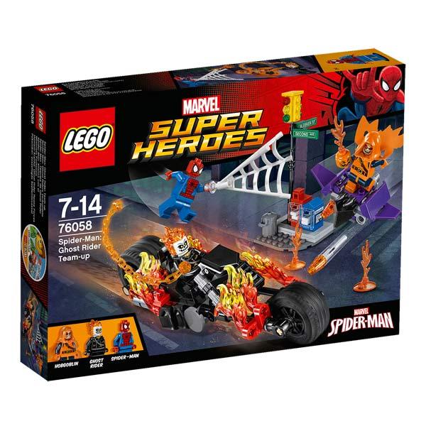 Protègez les rues de New York et battez le Super-Bouffon avec les Lego Marvel Super Heroes. Comprend : - 3 figurines : Spider-Man, le Super-Bouffon et le Ghost Rider - La moto de Ghost Rider, le planeur du Super Bouffon et le feu de circulation - Des arme