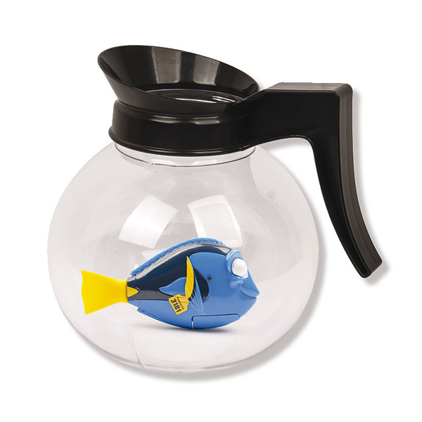 Robot Fish Dory et aquarium cafetière