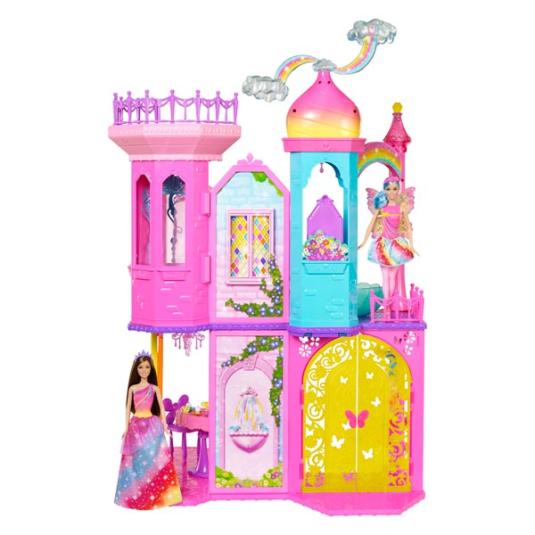 barbie chateau arc en ciel mattel king jouet poup es mannequin mattel poup es peluches. Black Bedroom Furniture Sets. Home Design Ideas