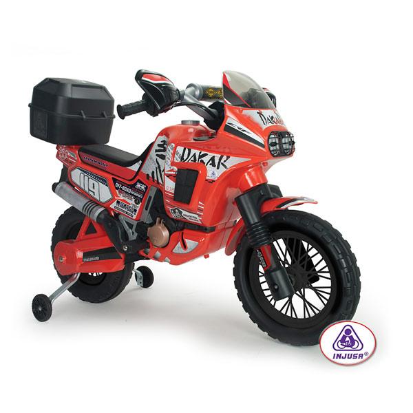 moto dakar 6v injusa king jouet v hicules lectriques. Black Bedroom Furniture Sets. Home Design Ideas