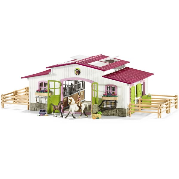 centre questre avec accessoires schleich king jouet. Black Bedroom Furniture Sets. Home Design Ideas