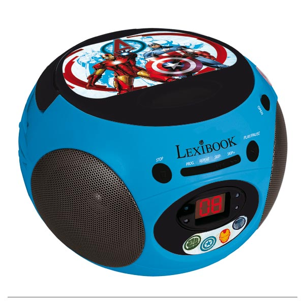 lecteur cd radio avengers lexibook king jouet audio. Black Bedroom Furniture Sets. Home Design Ideas
