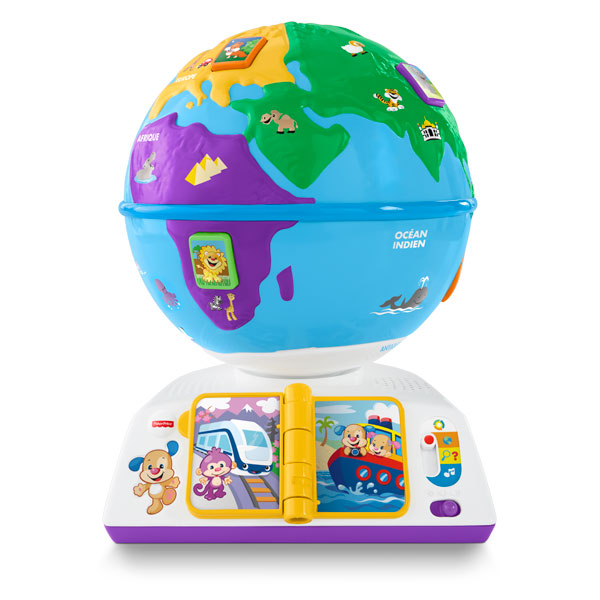 globe terrestre de puppy fisher price king jouet premiers apprentissages fisher price jeux. Black Bedroom Furniture Sets. Home Design Ideas