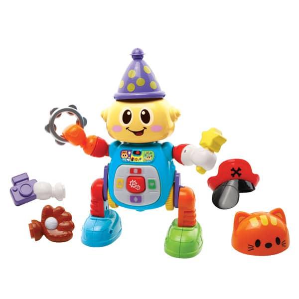 Zingoloco mon robot rigolo va permettre à votre enfant d´apprendre en s´amusant. L´enfant construit son propre robot grâce aux nombreux accessoires inclus à assembler et clipser sur le petit robot. Caractéristiques : - 9 accessoires trop rigolos inclus :