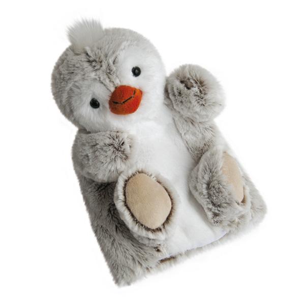 Peluche douce marionnette pingouin