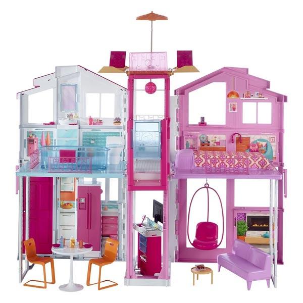 Barbie maison de luxe Mattel   King Jouet, poupées mannequin Mattel ... 3afbba327dd3