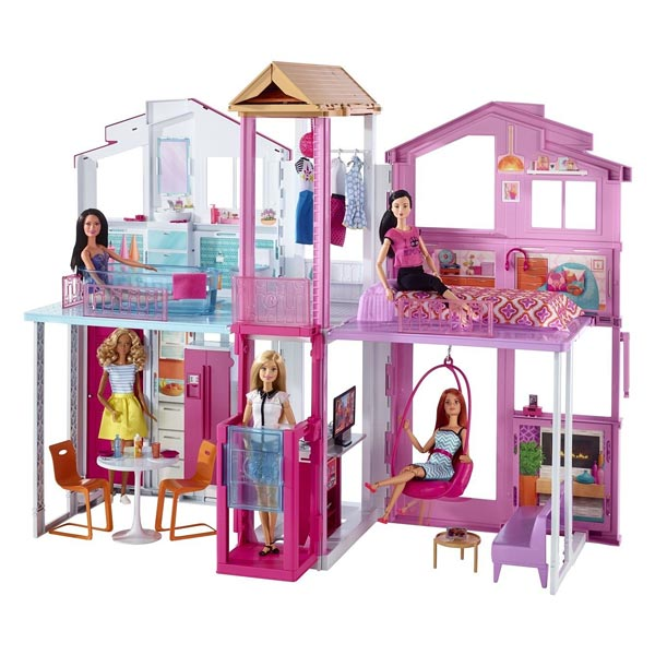 barbie maison de luxe mattel king jouet poup es. Black Bedroom Furniture Sets. Home Design Ideas
