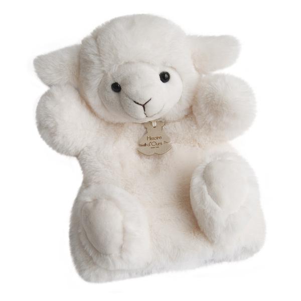 Peluche douce marionnette agneau