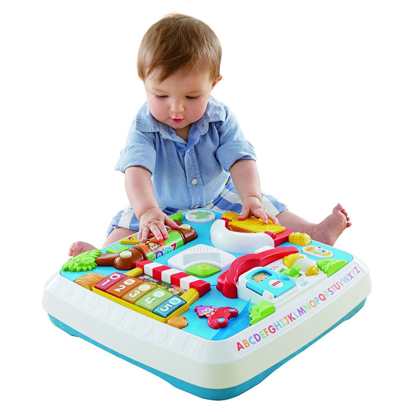 Table bilingue veil fisher price king jouet jeux d 39 veil fisher price - Table de jeux fisher price ...