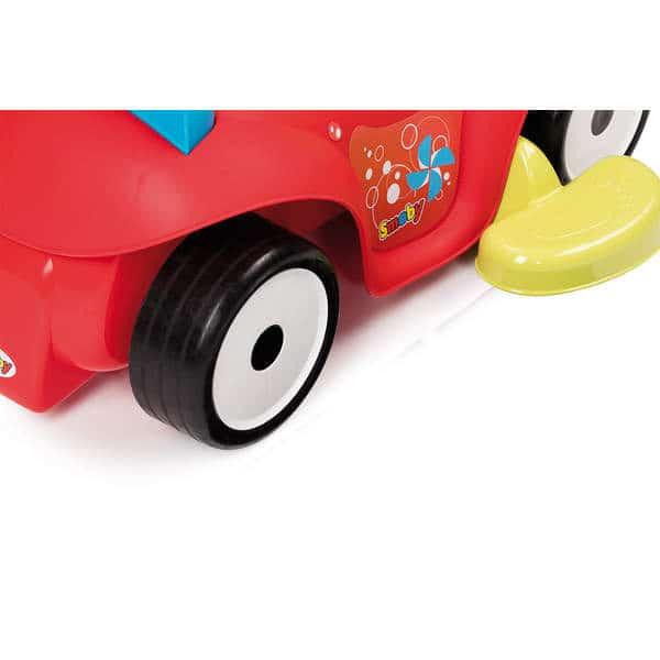 Porteur maestro confort avec roues silencieuses - 4 en 1 - klaxon 3 mélodies - rouge