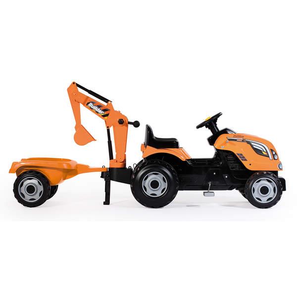 tracteur builder max remorque smoby king jouet voitures p dales smoby sport et jeux de. Black Bedroom Furniture Sets. Home Design Ideas
