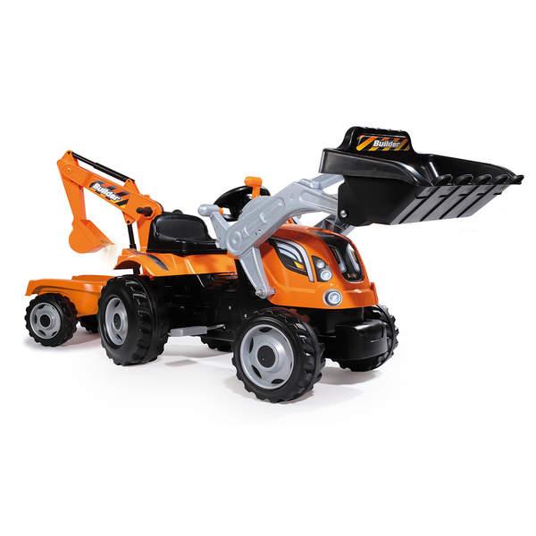 tracteur builder max avec remorque smoby king jouet voitures p dales smoby sport et jeux. Black Bedroom Furniture Sets. Home Design Ideas