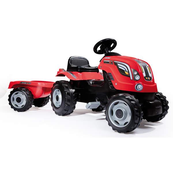 tracteur farmer xl rouge avec remorque smoby king jouet. Black Bedroom Furniture Sets. Home Design Ideas
