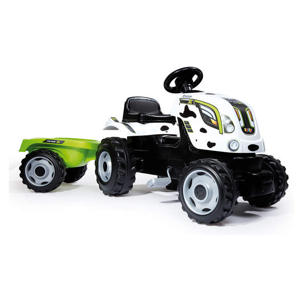 Tracteur farmer xl + remorque - capot ouvrable - vache