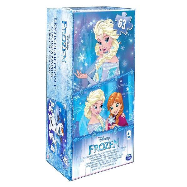 Plongez dans l´univers de la Reine des Neiges de Disney avec ces deux puzzles à assembler ! Cette boite de jeu est idéale pour créer 2 puzzles de la Reine des Neiges avec un effet lenticulaire fascinant : l´image change quand on déplace le regard. Anna, E