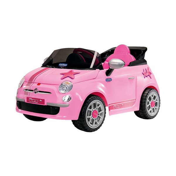 voiture fiat 500 s rose peg perego king jouet v hicules lectriques peg perego sport et. Black Bedroom Furniture Sets. Home Design Ideas