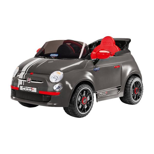 voiture fiat 500s grise 6v peg perego king jouet v hicules lectriques peg perego sport et. Black Bedroom Furniture Sets. Home Design Ideas