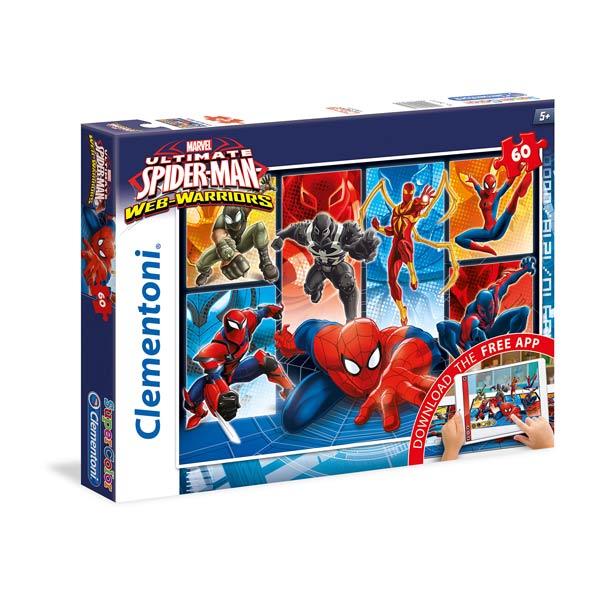 Avec ce puzzle 60 pièces avec application, les enfants vont retrouver leur héros favori sous les traits d´Ultimate Spiderman. Au fur et à mesure qu´ils avanceront dans leur construction et une fois qu´ils auront téléchargé cette application, ils pourront