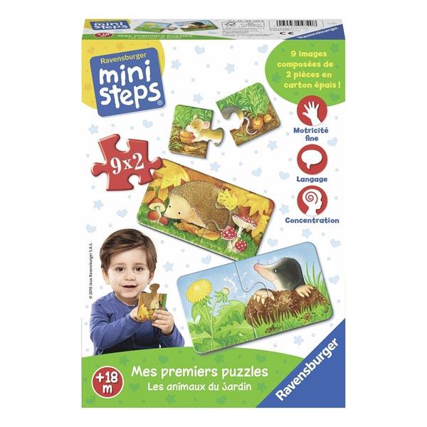 Mini step puzzle les animaux du jardin ravensburger king - Les animaux du jardin ...