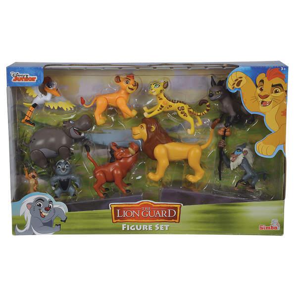coffret 10 figurines la garde du roi lion simba 8cm simba dickie king jouet figurines simba. Black Bedroom Furniture Sets. Home Design Ideas