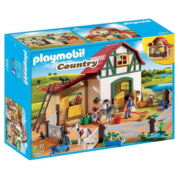 6927 poney club playmobil king jouet playmobil playmobil jeux d 39 imitation mondes imaginaires. Black Bedroom Furniture Sets. Home Design Ideas