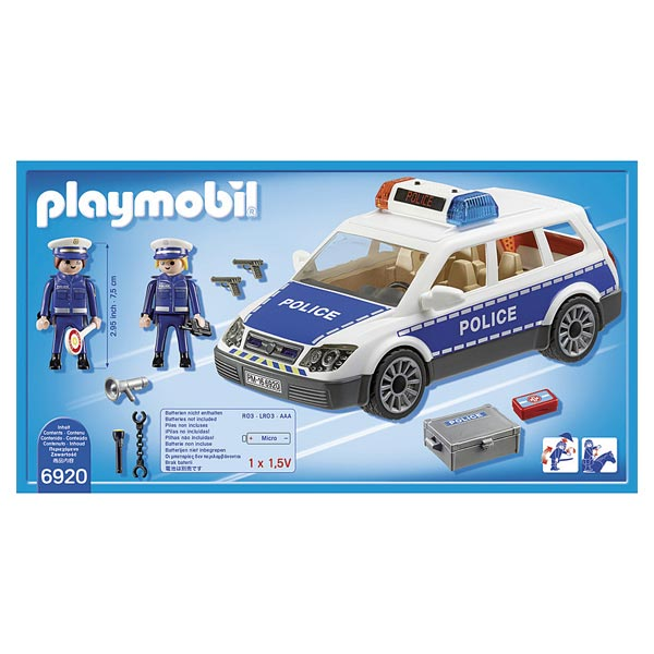 6920 voiture de policiers avec gyrophare playmobil city action playmobil king jouet. Black Bedroom Furniture Sets. Home Design Ideas