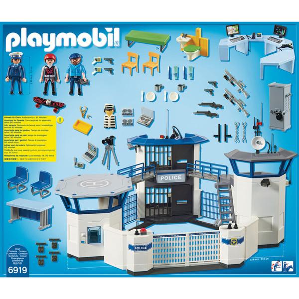 6919 commissariat de police avec prison playmobil city action playmobil king jouet - Caserne de police playmobil ...