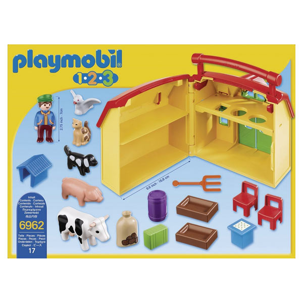 6962 ferme transportable playmobil 1 2 3 playmobil king jouet playmobil playmobil jeux d. Black Bedroom Furniture Sets. Home Design Ideas