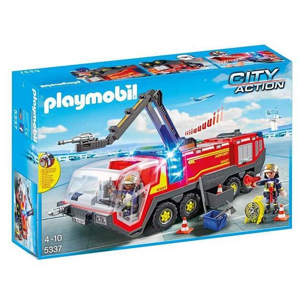 5337 pompiers avec vhicule aroportuaire playmobil pompiers et aroport - Playmobil Pompier