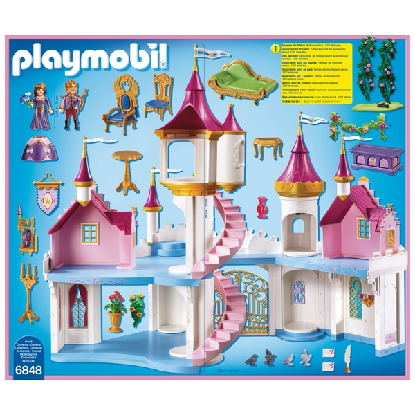 6848 grand ch teau de princesse playmobil princess for Image chateau princesse
