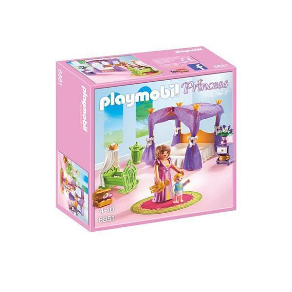 6851-Chambre de la Reine avec lit à baldaquin - Playmobil Princess