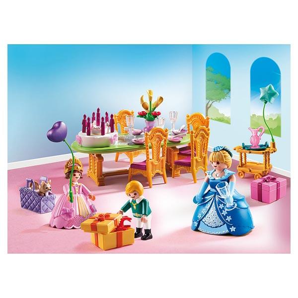 6854 salle manger pour anniversaire princier playmobil for Salle a manger playmobil 5335