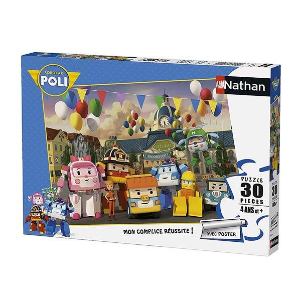 Puzzle 30 pi ces robocar poli nathan jeux king jouet - Jeux de robocar poli gratuit ...