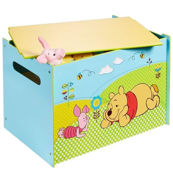 Le coffre Winnie est un coffre de rangement destiné aux enfants de plus de trois ans. Ce coffre à jouets présente une longueur de 60 cm, une hauteur de 40 cm, ainsi qu´une profondeur de 40 cm. Un coffre winnie solide. Le montage est à réaliser soi-même.Ce