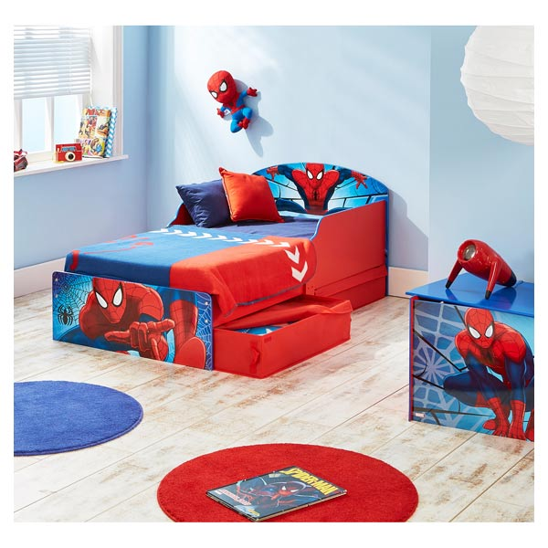 Deco chambre spiderman parure de lit en mainstays kids for Decoration chambre spiderman