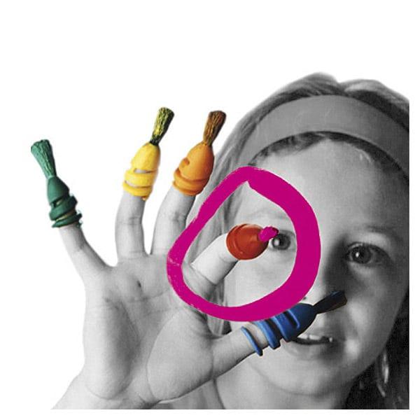 Fingermax boite pinceaux fluorescente
