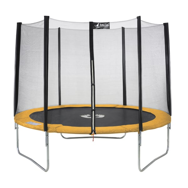 trampoline 244 cm avec filet kangui king jouet. Black Bedroom Furniture Sets. Home Design Ideas