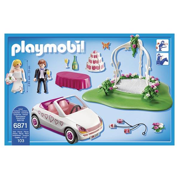 6871 set couple de mari s avec voiture playmobil dollhouse playmobil king jouet playmobil. Black Bedroom Furniture Sets. Home Design Ideas