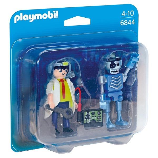Cet ensemble va vous permettre de compléter votre univers Playmobil. L´inventeur va changer le monde grâce à son robot qu´il contrôle à distance avec sa tablette. Ce coffret contient un personnage, un robot et des accessoires.