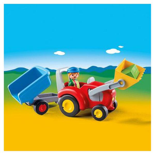 6964-Fermier avec tracteur et remorque - Playmobil 1.2.3