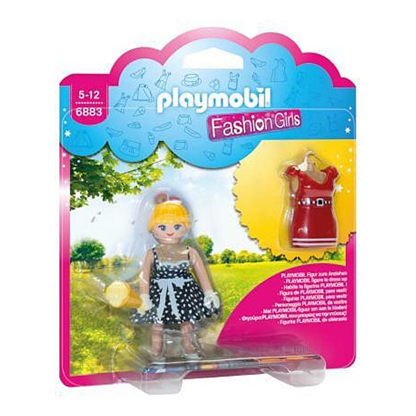 6883-Fashion girl tenue rétro - Playmobil Fashion Girl